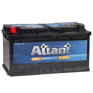 Аккумулятор ATLANT (100 Ah) 800 A, 12 V Прямая, L+ 0