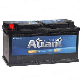Аккумулятор ATLANT (90 Ah) 740 A, 12 V Прямая, L+ 0