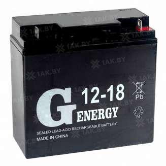 Аккумулятор G-Energy (18 Ah) , 12 V 0