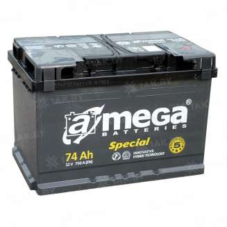 Аккумулятор A-MEGA (74 Ah) 750 A, 12 V Обратная, R+ 0