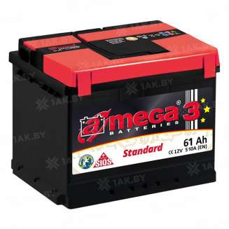 Аккумулятор A-MEGA (61 Ah) 510 A, 12 V Обратная, R+ 0