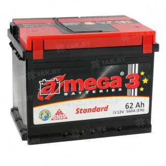 Аккумулятор A-MEGA (62 Ah) 560 А, 12 V Обратная, R+ 0