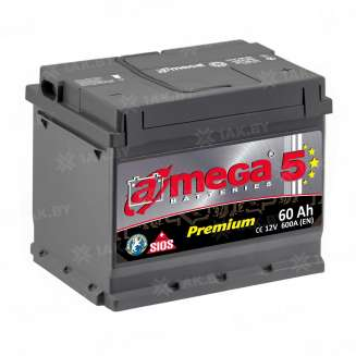 Аккумулятор A-MEGA (60 Ah) 600 A, 12 V Обратная, R+ 0