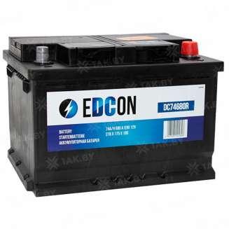 Аккумулятор EDCON (74 Ah) 680 A, 12 V Обратная, R+ 0