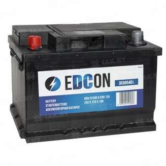Аккумулятор EDCON (60 Ah) 540 A, 12 V Прямая, L+ 0