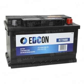 Аккумулятор EDCON (72 Ah) 680 A, 12 V Обратная, R+ 0