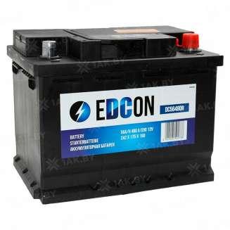 Аккумулятор EDCON (56 Ah) 480 A, 12 V Обратная, R+ 0