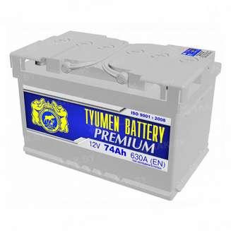 Аккумулятор Тюмень (74 Ah) 630 A, 12 V Прямая, L+ 0