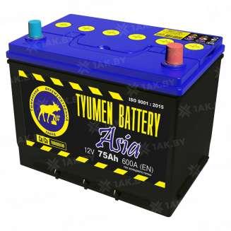 Аккумулятор Тюмень (75 Ah) 600 A, 12 V Обратная, R+ 0