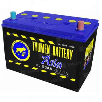 Аккумулятор Тюмень (95 Ah) 720 A, 12 V Обратная, R+ 0