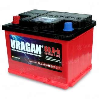Аккумулятор URAGAN (60 Ah) 500 A, 12 V Прямая, L+ 0