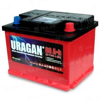 Аккумулятор URAGAN (60 Ah) 500 A, 12 V Обратная, R+ 0