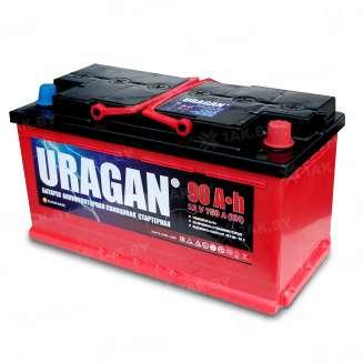 Аккумулятор URAGAN (90 Ah) 750 A, 12 V Обратная, R+ 0