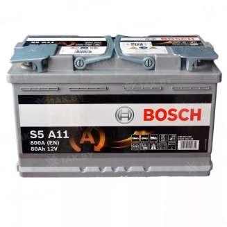 Аккумулятор BOSCH (80 Ah) 800 A, 12 V Обратная, R+ 0