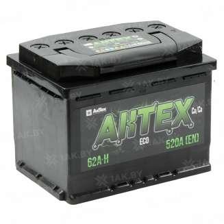 Аккумулятор AKTEX (62 Ah) 520 A, 12 V Обратная, R+ 0