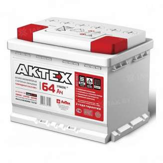 Аккумулятор AKTEX (64 Ah) 570 A, 12 V Прямая, L+ 0