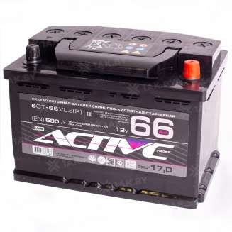 Аккумулятор AKTEX (66 Ah) 580 А, 12 V Обратная, R+ 0