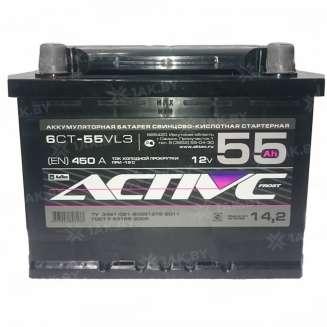 Аккумулятор AKTEX (55 Ah) 450 A, 12 V Обратная, R+ 0