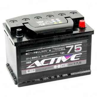 Аккумулятор AKTEX (75 Ah) 650 A, 12 V Обратная, R+ 0