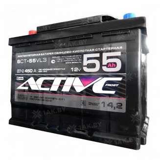 Аккумулятор AKTEX (55 Ah) 450 A, 12 V Прямая, L+ 0