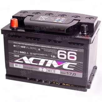 Аккумулятор AKTEX (66 Ah) 580 А, 12 V Прямая, L+ 0