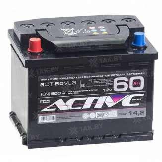 Аккумулятор AKTEX (60 Ah) 500 A, 12 V Прямая, L+ 0