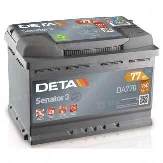 Аккумулятор DETA (77 Ah) 760 A, 12 V Обратная, R+ 0