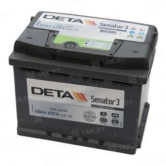 Аккумулятор DETA (60 Ah) 600 A, 12 V Обратная, R+ 0
