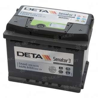 Аккумулятор DETA (64 Ah) 640 A, 12 V Обратная, R+ 0