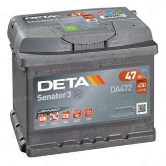 Аккумулятор DETA (47 Ah) 450 A, 12 V Обратная, R+ 0