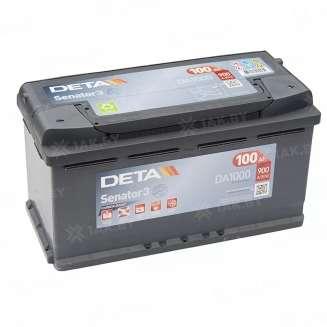 Аккумулятор DETA (100 Ah) 900 A, 12 V Обратная, R+ 0