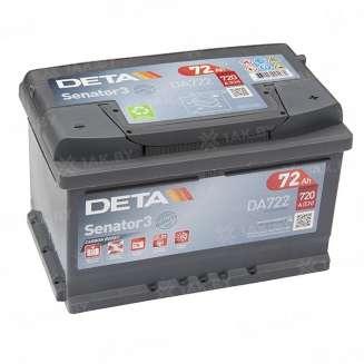 Аккумулятор DETA (72 Ah) 720 A, 12 V Обратная, R+ 0