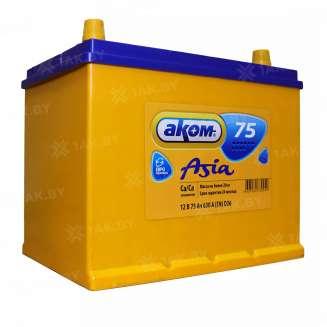 Аккумулятор АКОМ (75 Ah) 630 A, 12 V Обратная, R+ 0