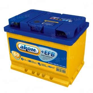 Аккумулятор АКОМ (60 Ah) 560 А, 12 V Прямая, L+ 0