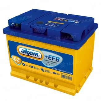 Аккумулятор АКОМ (62 Ah) 600 A, 12 V Обратная, R+ 0