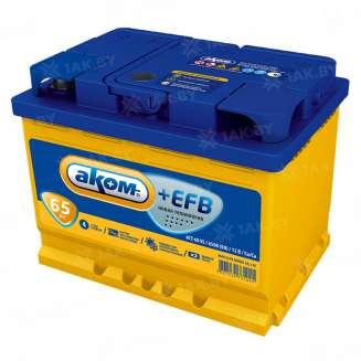 Аккумулятор АКОМ (65 Ah) 650 A, 12 V Обратная, R+ 0