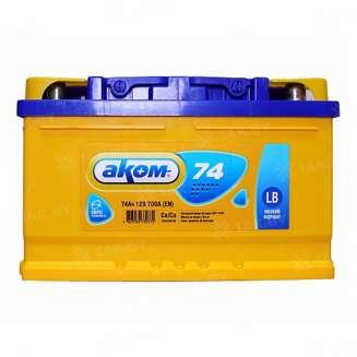 Аккумулятор АКОМ (74 Ah) 700 A, 12 V Обратная, R+ 0