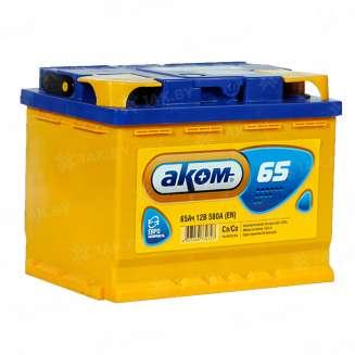 Аккумулятор АКОМ (65 Ah) 580 А, 12 V Обратная, R+ 0