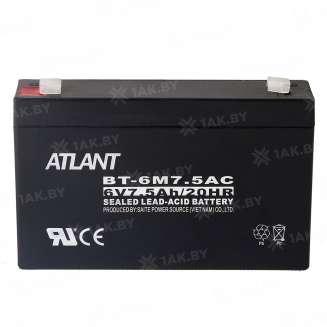 Аккумулятор ATLANT (7.5 Ah) , 6 V 0
