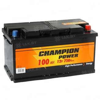 Аккумулятор CHAMPION (100 Ah) 750 A, 12 V Обратная, R+ 0