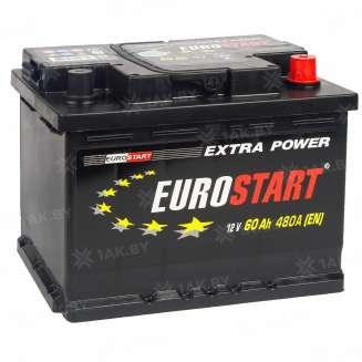 Аккумулятор EUROSTART (60 Ah) 480 A, 12 V Обратная, R+ 0