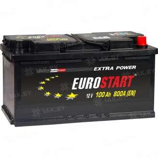 Аккумулятор EUROSTART (100 Ah) 800 A, 12 V Обратная, R+ 0
