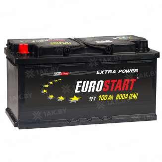 Аккумулятор EUROSTART (100 Ah) 800 A, 12 V Прямая, L+ 0