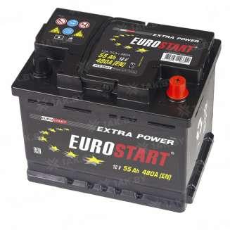 Аккумулятор EUROSTART (55 Ah) 430 A, 12 V Обратная, R+ 0