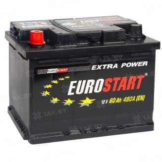 Аккумулятор EUROSTART (60 Ah) 480 A, 12 V Прямая, L+ 0