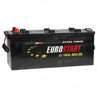 Аккумулятор EUROSTART (140 Ah) 900 A, 12 V Прямая, L+ 0
