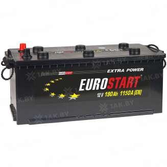 Аккумулятор EUROSTART (190 Ah) 1150 A, 12 V Обратная, R+ 0