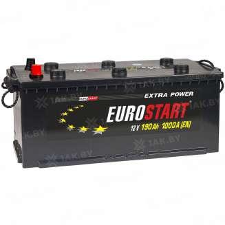 Аккумулятор EUROSTART (190 Ah) 1000 A, 12 V Прямая, L+ 0