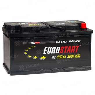 Аккумулятор EUROSTART (100 Ah) 630 A, 12 V Обратная, R+ 0
