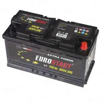 Аккумулятор EUROSTART (100 Ah) 630 A, 12 V Обратная, R+ 1